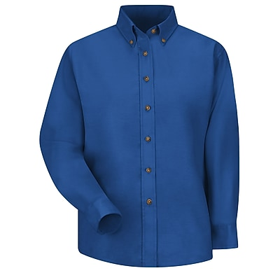 Red Kap Women's Poplin Dress Shirt RG x 14, Royal blue