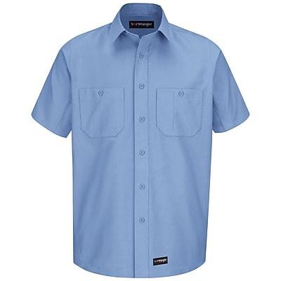 Wrangler Workwear Men's Work Shirt SS x XL, Light blue