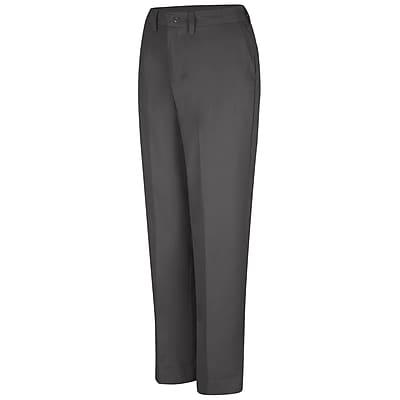 Red Kap Women's Elastic Insert Work Pant 16 x 34U, Charcoal