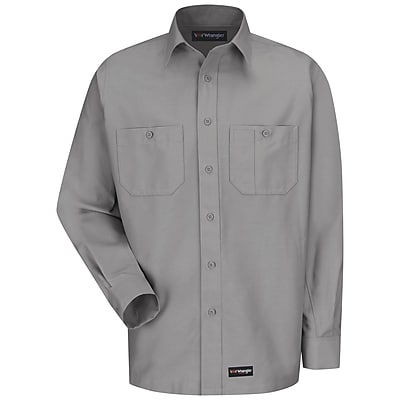 Wrangler Workwear Men's Work Shirt RG x XXL, Silver grey