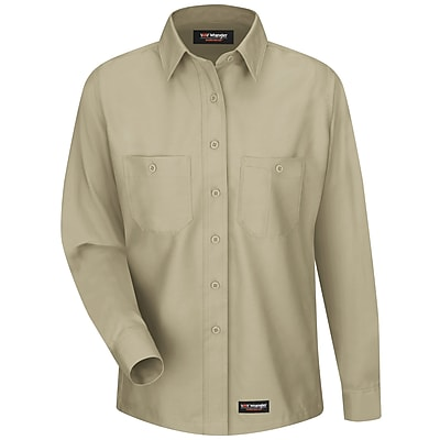 Wrangler Workwear Women's Work Shirt RG x M, Khaki