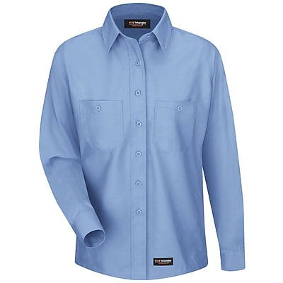 Wrangler Workwear Women's Work Shirt RG x XXL, Light blue