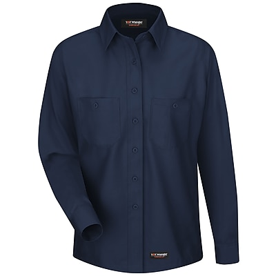 Wrangler Workwear Women's Work Shirt RG x 3XL, Navy