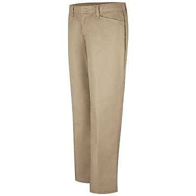 Red Kap Women's Work NMotion Pant 18 x 34U, Khaki