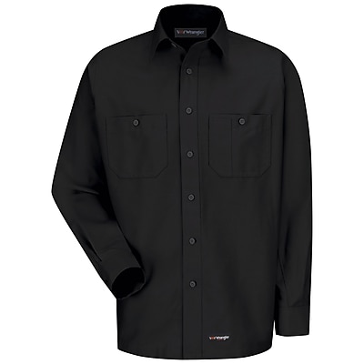 Wrangler Workwear Men's Work Shirt LN x XXL, Black