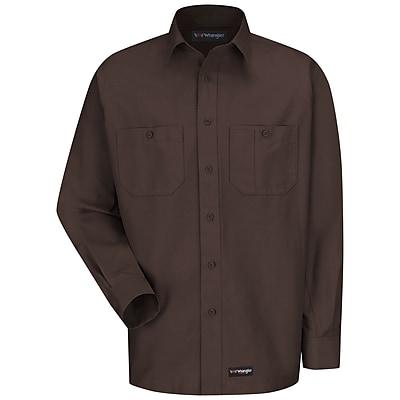 Wrangler Workwear Men's Work Shirt RG x 3XL, Chocolate brown