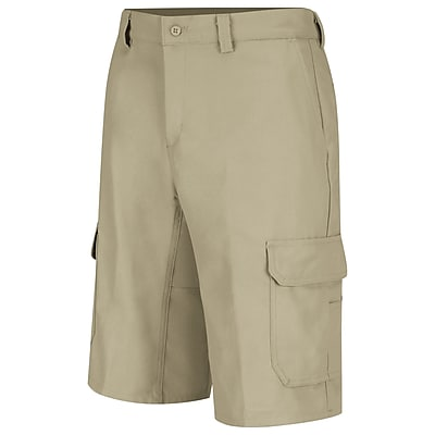 Wrangler Workwear Men's Functional Cargo Work Short 48 x 12, Khaki