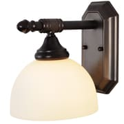 Monument Decorative 1-Light Bath Sconce; Oil Rubbed Bronze