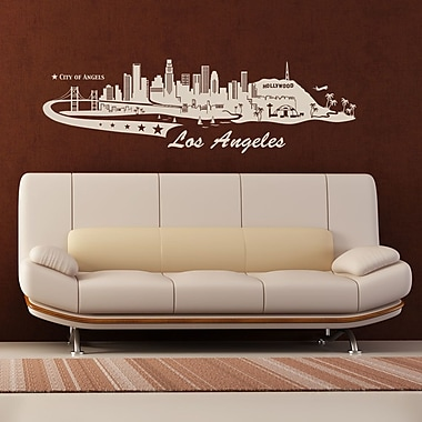 Style and Apply Los Angeles Skyline Wall Decal; Green