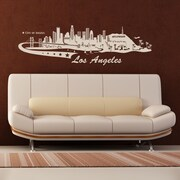 Style and Apply Los Angeles Skyline Wall Decal; Black