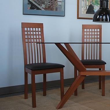 Wildon Home Como Side Chair (Set of 2); Cherry