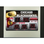 Team Sports America NHL Scoreboard Desk Clocks; Chicago Blackhawks