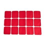 Saro Carree Square Design Placemat (Set of 4); Rouge