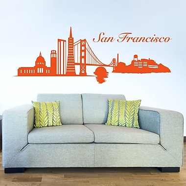Style and Apply San Francisco Skyline Wall Decal; Pastel Orange