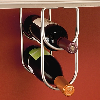 Rev-A-Shelf 2 Bottle Hanging Wine Rack; Satin Nickel