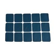 Saro Carree Square Design Placemat (Set of 4); Navy Blue