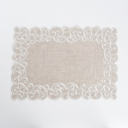 Saro Embroidered Design Placemat (Set of 4)