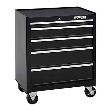Waterloo Industries Shop Series 26''W 5-Drawer Tool Cabinet; Black