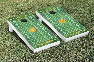 Victory Tailgate NCAA Football Field Version Cornhole Game Set; Albany State University Golden Rams WYF078277114796