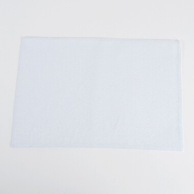 Saro Classic Design Shimmering Placemat (Set of 4); White