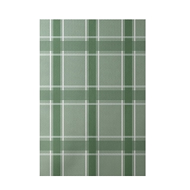 E By Design Geometric Green Indoor/Outdoor Area Rug; 3' x 5'