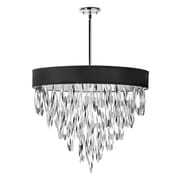 Radionic Hi Tech Allegro 8-Light Drum Pendant; Black