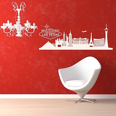 Style and Apply Las Vegas Skyline Wall Decal; Light Pink