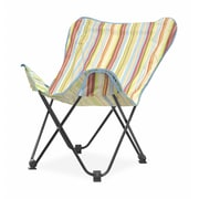 Idea Nuova Urban Shop Surfer Stripe Butterfly Lounge Chair; Natural