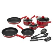 Victoria Victoria Gradient 12 Piece Cookware Set; Red / Black