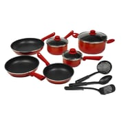 Victoria Victoria Gradient 12 Piece Cookware Set; Orange / Red