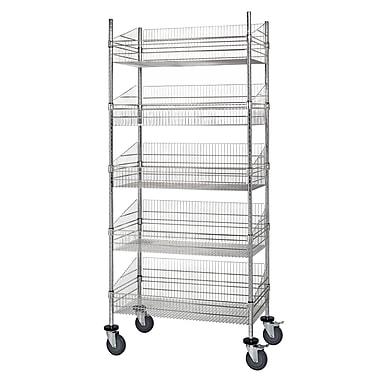 Quantum Mobile Post 80'' Five Shelf Shelving Units