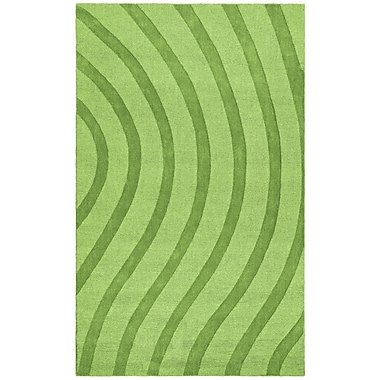 St. Croix Transitions Light Green Waves Rug; Rectangle 5' x 8'
