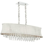 Radionic Hi Tech Julia 8-Light Kitchen Island Pendant; Pearl