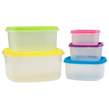 KitchenWorthy 5 Container Food Storage Set