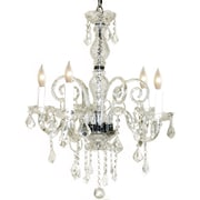 Pangea Home Krystal 5-Light Crystal Chandelier; Clear