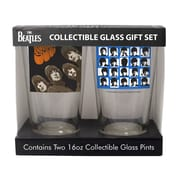 Boelter Brands Beatles Rubber Soul and Hard Days Night 2 Piece Collectible Pint Glass Set