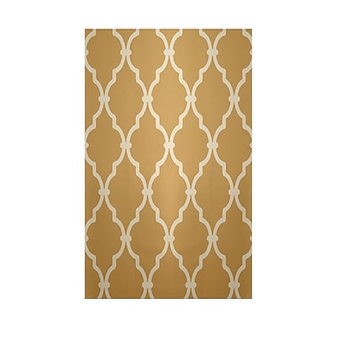 E By Design Geometric Tan Indoor/Outdoor Area Rug; 3' x 5'