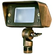 Dabmar Lighting 1-Light Flood Light; Weathered Brass