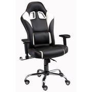 Pit Stop Furniture Racing Style Executive Chair; Black