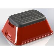 Ennovea Life 1-Step Plastic Anti-Tip Safe-T Step Stool w/ 375 lb. Load Capacity; Red