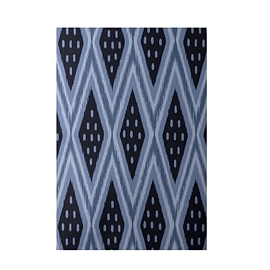 E By Design Geometric Blue Indoor/Outdoor Area Rug; 3' x 5'