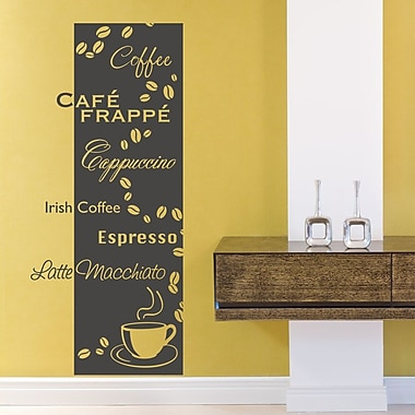 Style and Apply Coffee Types Wall Decal; Yellow