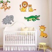 Style and Apply Colorful Safari Animal Wall Decal