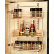 Rev-A-Shelf Adjustable Door Mount Spice Rack; 25'' H x 16.13'' W x 4'' D