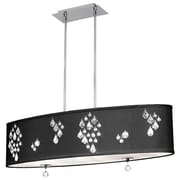 Radionic Hi Tech Rhiannon 8-Light Kitchen Island Pendant; Black