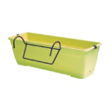 Marchioro Plastic Window Box Planter w/ Saucer; Bright Green