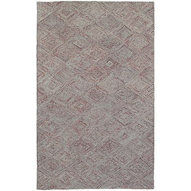 Pantone Universe Colorscape Hand-Tufted Geometric Rust/Gray Area Rug; Rectangle 3'6'' x 5'6''