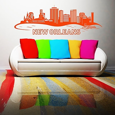Style and Apply New Orleans Skyline Wall Decal; Yellow