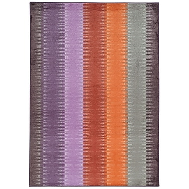 Pantone Universe Prismatic Geometric Purple/Orange Area Rug; 7'10'' x 10'10''