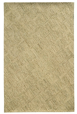Pantone Universe Colorscape Hand-Tufted Beige/Stone Geometric Area Rug; Rectangle 3'6'' x 5'6''